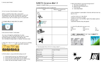 EARTH Science Mat 3