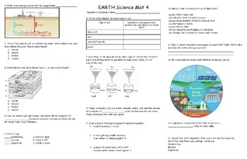 EARTH Science Review Mat 4