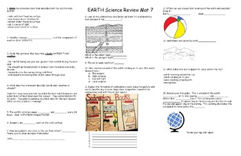 EARTH Science Review Mat 7