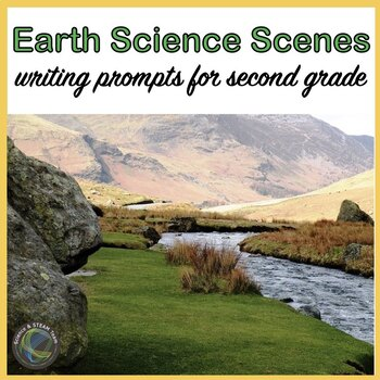 EARTH Science Scenes Writing Prompts and Vocabulary Cards