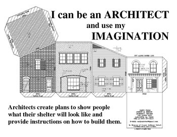 I Can be an Architect-building blocks to color, cut, fold, paste and imagine.