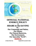 EARTH TOOLS-OFFICIAL NATIONAL ENERGY POLICY - SHARE in the SAVING