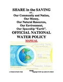 OFFICIAL NATIONAL WATER POLICY and SHARE in the SAVING