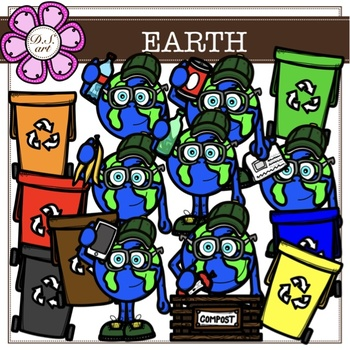 EARTH digital clipart (color and black&white)