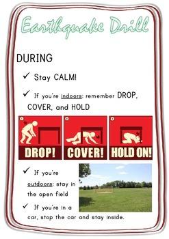 EARTHQUAKE DRILL lesson