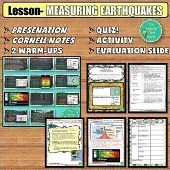 EARTHQUAKES INTERACTIVE NOTEBOOK BUNDLE- GOOGLE APPS and PRINTABLE!