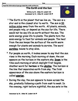 EARTH_&_THE_SUN_PARCC-LIKE_READING_ASSESSMENT