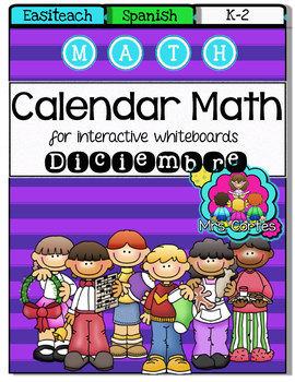 EASITEACH Calendar Math- Diciembre (Spanish)