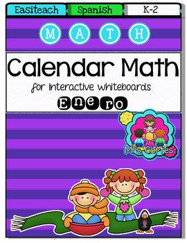 EASITEACH Calendar Math- Enero (Spanish)