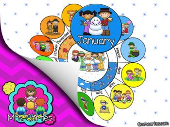 EASITEACH Calendar Math- January (English)