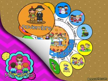 EASITEACH Calendar Math- Noviembre (Spanish)