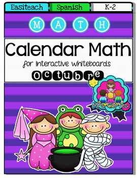 EASITEACH Calendar Math- Octubre HALLOWEEN VERSION (Spanish)