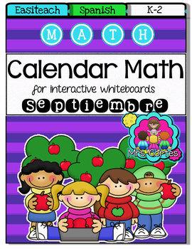 EASITEACH Calendar Math- Septiembre(Spanish)
