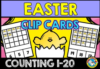 EASTER MATH CENTER (COUNTING EASTER CHICKS) NUMBERS 1-20 ACTIVITIES KINDERGARTEN
