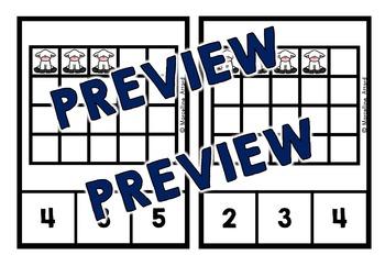 EASTER ACTIVITIES KINDERGARTEN (PRESCHOOL COUNTING LAMBS CLIP CARDS)