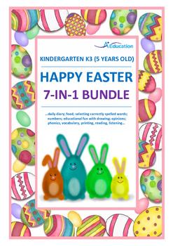 EASTER  7-IN-1 Bundle - Kindergarten 3 (5 Years Old)