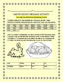 EASTER: A SECRET MESSAGE ACTIVITY W/ ANSWER KEY