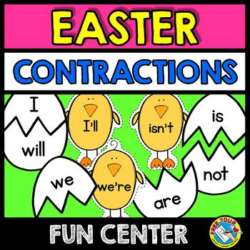 EASTER ACTIVITIES (CONTRACTIONS CENTER) EGG CONTRACTIONS PUZZLES