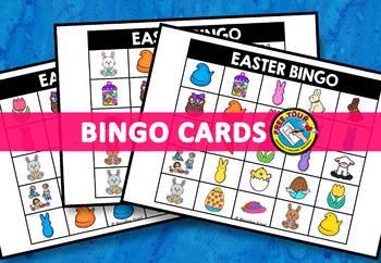EASTER ACTIVITIES (KINDERGARTEN EASTER BINGO GAME FOR WHOLE CLASS)