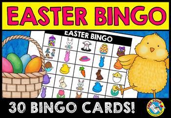 EASTER ACTIVITIES (KINDERGARTEN EASTER BINGO GAME FOR WHOL