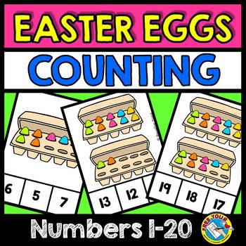 KINDERGARTEN EASTER ACTIVITIES (PAINTED EGGS COUNTING CLIP CARDS)