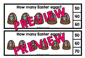 EASTER ACTIVITIES (SKIP COUNTING CLIP CARDS BUNDLE) SKIP COUNTING BY 10S CENTERS