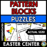 EASTER ACTIVITY KINDERGARTEN, 1ST GRADE PATTERN BLOCKS PUZ
