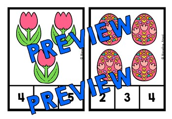 EASTER ACTIVITY KINDERGARTEN (COUNTING TO 20) APRIL MORNING WORK TUB CENTER