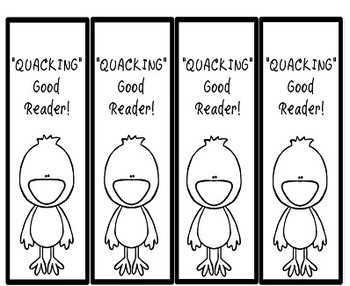 Ducks Bunnies and Easter Reward Bookmarkers