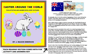 EASTER AROUND THE WORLD (30 NATIONS, 100+ PAGES, WORD SEARCHES, CCSS ETC)