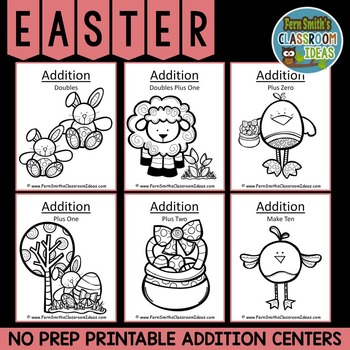 Easter Math Six Quick and Easy to Prep Addition Center Gam
