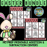 Easter Math Twelve Quick and Easy to Prep Addition and Subtraction Centers