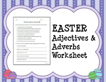 Easter adjectives adverbs worksheet by mainly middle school 6 8 easter adjectives adverbs worksheet ibookread Download