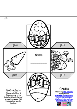 EASTER BASKET template - enlarge, color, cut and make!