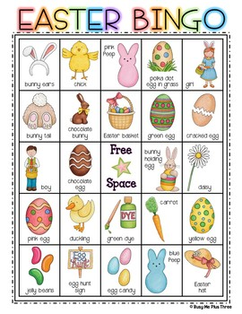 EASTER BINGO {25 Different Bingo Cards}