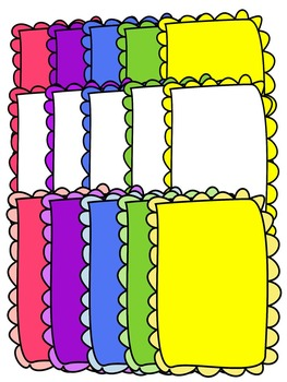 EASTER BORDERS * COLOR AND BLACK AND WHITE