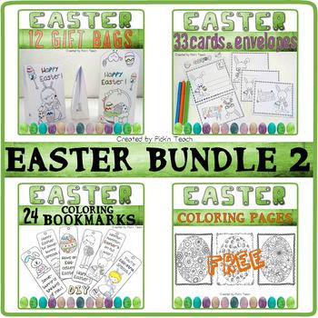 EASTER BUNDLE 2 ✀ Cut, color & glue - Craftivities + bonus