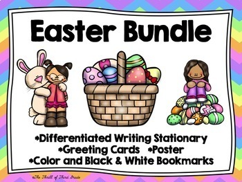 Easter Writing Stationary--Easter Greeting Cards--Easter B