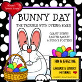 EASTER BUNNY BOOK with GIANT POSTERS Pre-K Speech Therapy Early Reader