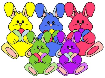 EASTER BUNNY CLIP ART 2* COLOR AND BLACK AND WHITE