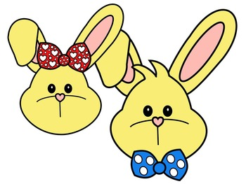 EASTER BUNNY FACE * YELLOW AND BLACK AND WHITE