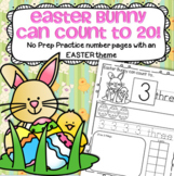 EASTER BUNNY Number Practice Printables - Recognition Tracing Counting 1-20