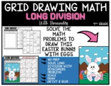 EASTER BUNNY WITH EGGS Grid Drawing Math Puzzle LONG DIVISION WITH REMAINDERS