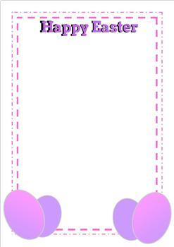 22 EASTER Borders for Writing,Bible Class Religious Education, Literacy