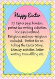 EASTER Borders for Writing Bible Class Religious Education