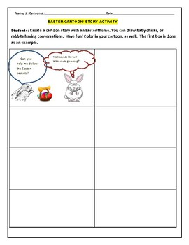 EASTER CARTOON ACTIVITY, GRADES 3-7