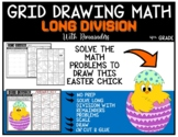 EASTER CHICK Grid Drawing Math Puzzle LONG DIVISION WITH REMAINDERS