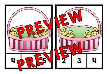 EASTER CHICKS COUNTING CENTER 1-20 (EASTER KINDERGARTEN COUNTING ACTIVITIES)