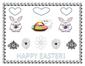 EASTER COLORING PAGE/ SIGN/ POSTER
