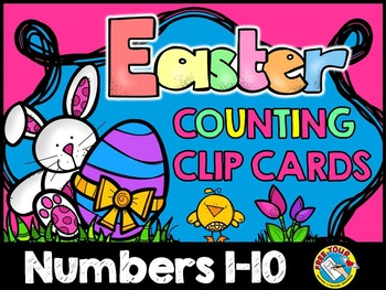 EASTER MATH ACTIVITIES: EASTER COUNTING CENTER: PRE-K EASTER COUNTING CLIP CARDS